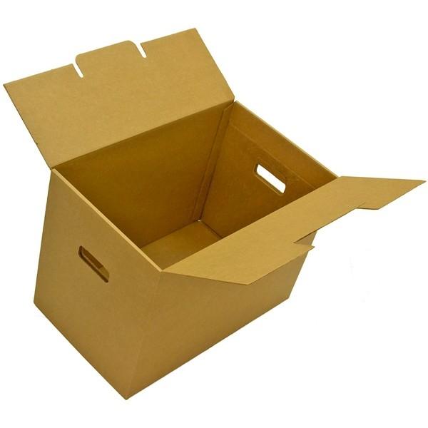 Самосборная коробка №19 (с ручками) 45х35х53 мм.