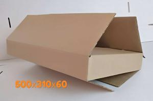 Коробка плоская 500*310*60 мм .